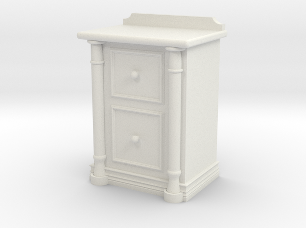 Bedside Cabinet in White Natural Versatile Plastic