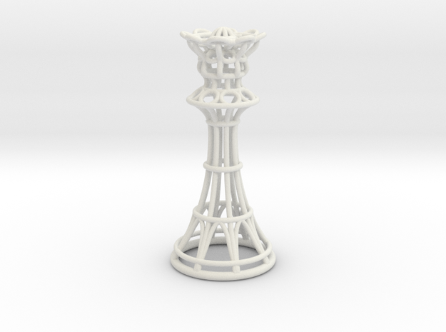 Hollow Chess Set - Queen in White Natural Versatile Plastic