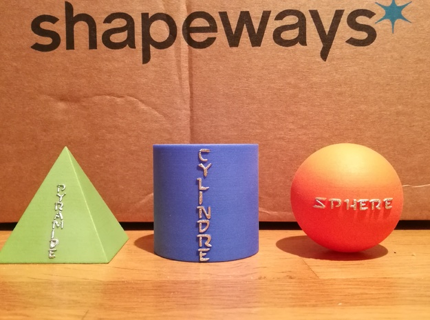 Sphere - Sphère in Orange Strong & Flexible Polished
