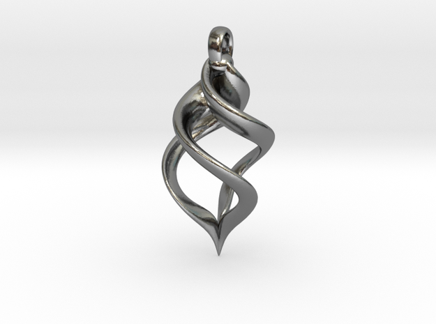 LofG Pendant in Polished Silver