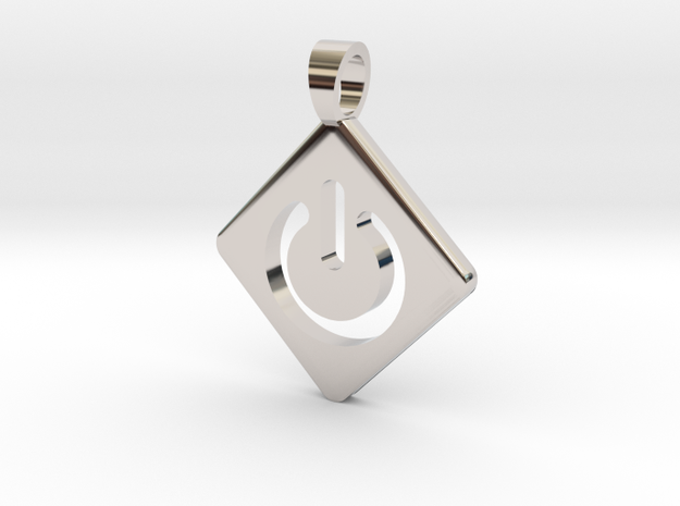 ON / OFF [pendant] in Rhodium Plated