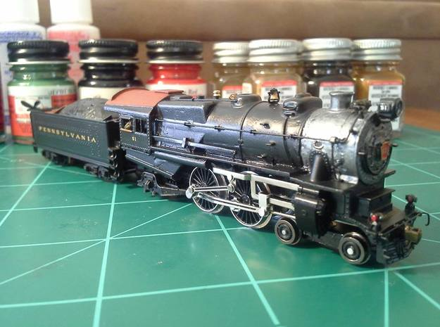 N Scale Pennsylvania H9/E6/G5 Cab 3d printed The finished model by one of my Facebook friends in the PRR modeling group