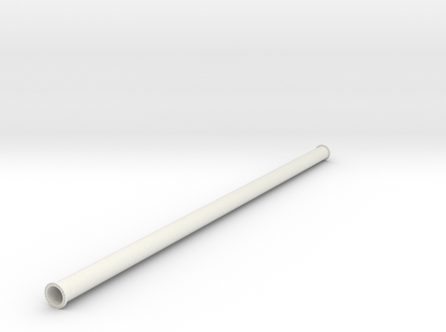"24"" pipe with flange in White Natural Versatile Plastic"