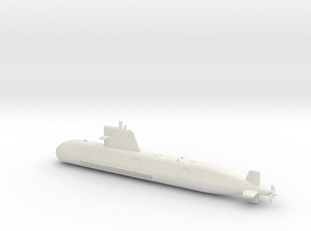 1/350 Scorpene-class submarine1/350 Scorpene-class in White Natural Versatile Plastic