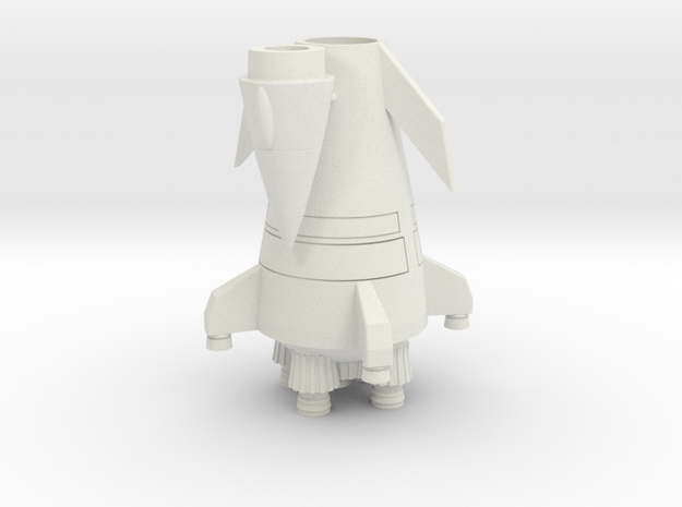Scout Rocket in White Natural Versatile Plastic