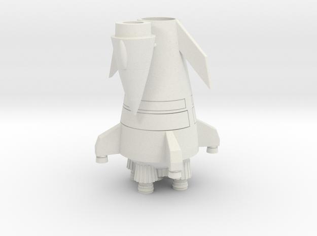 Scout Rocket in White Natural Versatile Plastic
