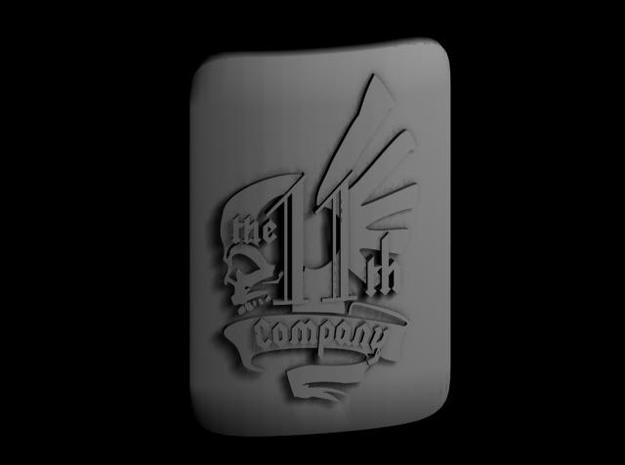 10 28mm Custom Shield 11th Company w Text 3d printed Render of Shield Design