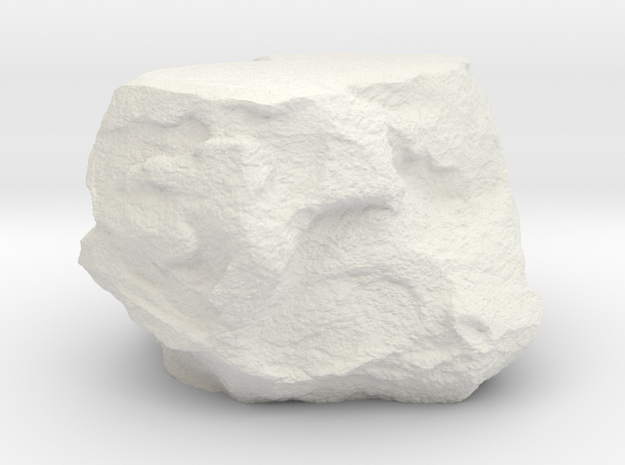 Small Rock Environment Miniature in White Natural Versatile Plastic