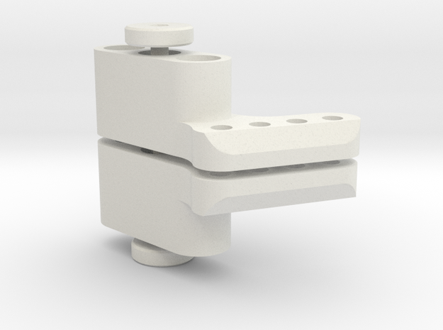 TC4 Camber Link Mount (Pair) in White Natural Versatile Plastic