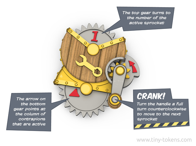 Crankable Sprocket Contraption for MTG Unstable in White Strong & Flexible Polished
