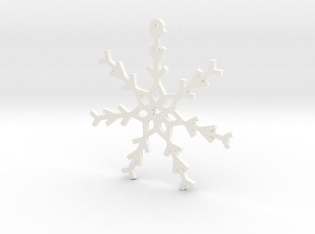 Young Snowflake Ornament in White Processed Versatile Plastic