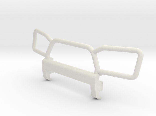 Orlandoo Pajero OH32A02 Front Bumper Style 3 in White Natural Versatile Plastic