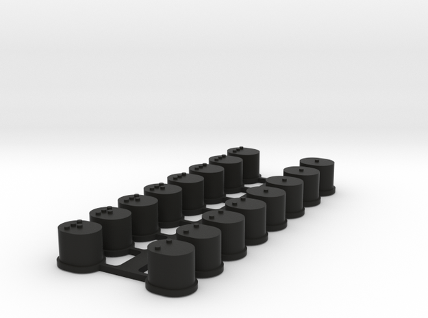 RSD TC7.1 Suspension Mount Inserts in Black Strong & Flexible