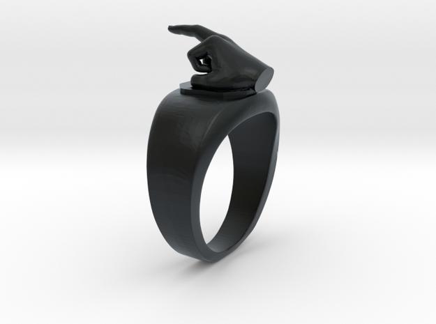 Middle Finger Ring - Size 9 in Black Hi-Def Acrylate