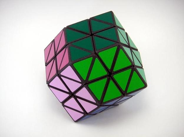 Rhombic18 Puzzle set A 3d printed Solved