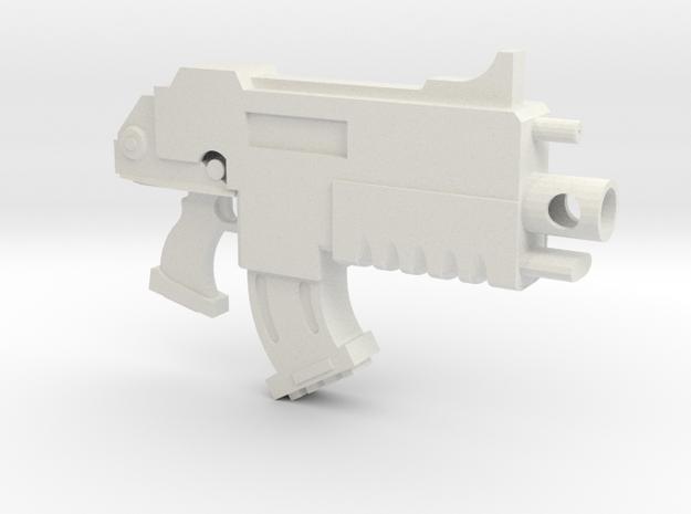 Test Bolt Gun in White Natural Versatile Plastic