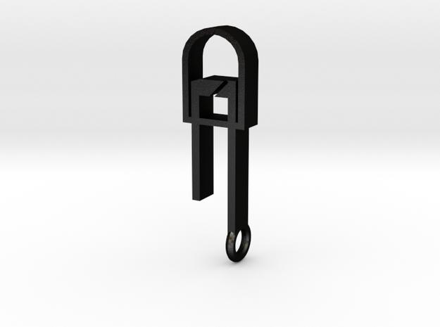 LED Pendant Minimal in Matte Black Steel