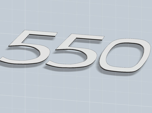 KEYCHAIN 550 INSERTS 3d printed Keychain 550 white plastic inserts, render