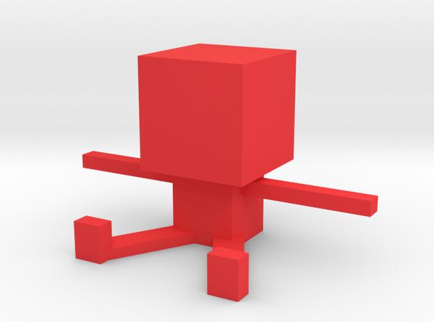Square Man in Red Processed Versatile Plastic