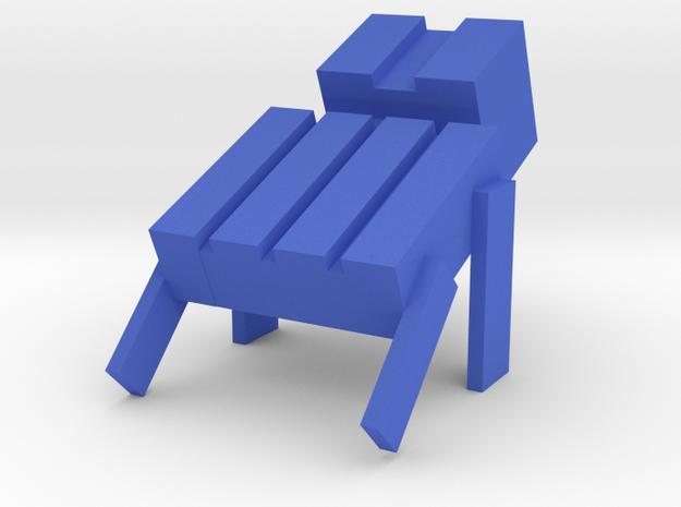 Square Man Cable Cleat in Blue Processed Versatile Plastic