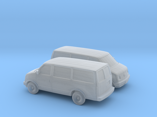 1/160 2X 1985 Chevrolet Astro Van Extended in Smooth Fine Detail Plastic