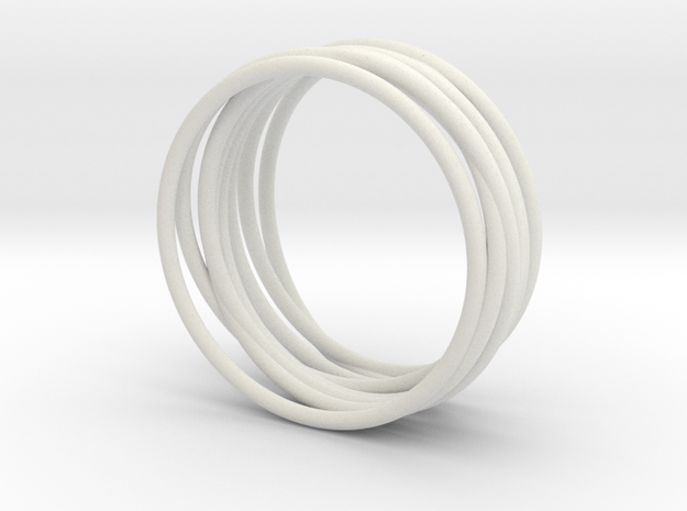 Complex Ring in White Natural Versatile Plastic