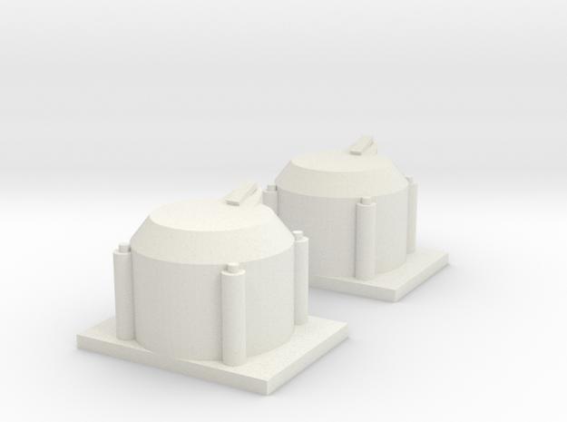 Axle Box Set 1 1/25 scale in White Natural Versatile Plastic