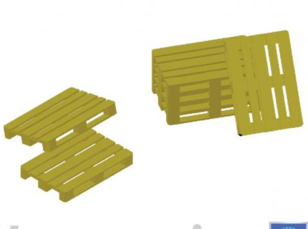 Europallets 50 pieces 3d printed Impression of a few Europallets
