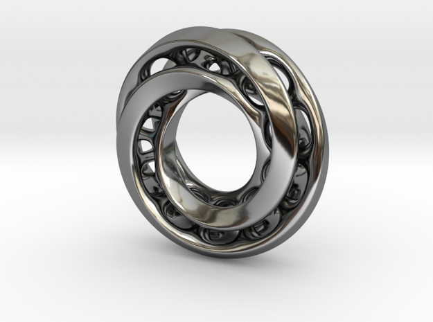 Mobius Pair in Fine Detail Polished Silver