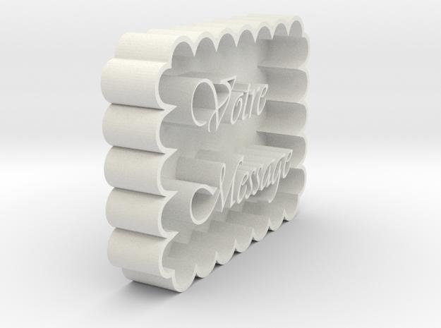 r2 in White Natural Versatile Plastic