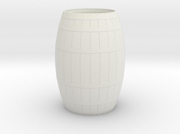 18th Century Barrel-Open (21hx15dia) 1/24 in White Natural Versatile Plastic