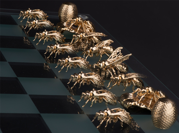 Beekeeper Chess Collection: Knight 3d printed