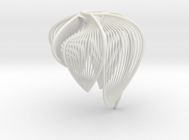 Petal Bloom #3 in White Natural Versatile Plastic