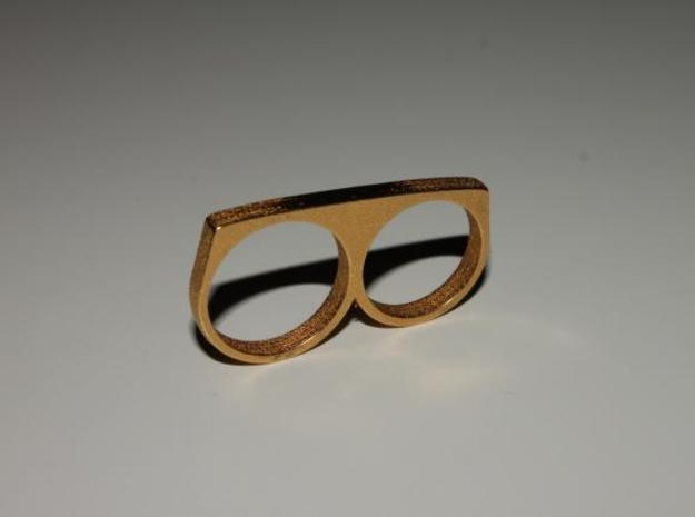 Dyplos Ring in Polished Gold Steel