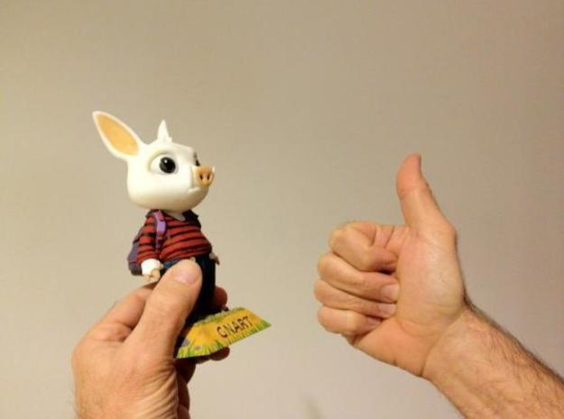 Game Character: Gnart (11cm) 3d printed Hand painted version