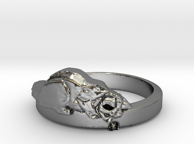 Hermoine and the Mouse - Ring Size 8.25 in Polished Silver