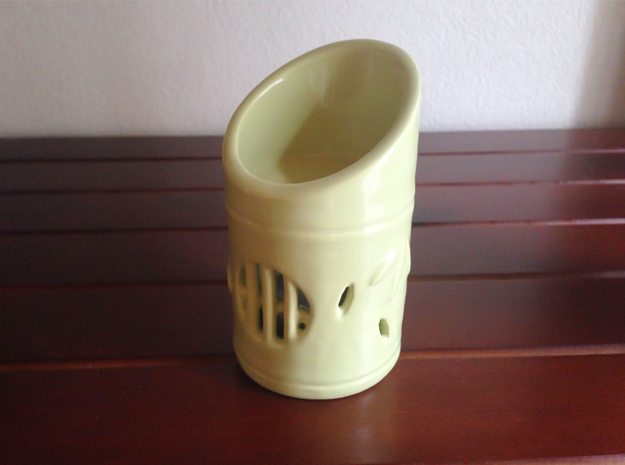 Bamboo Oil Warmer 3d printed