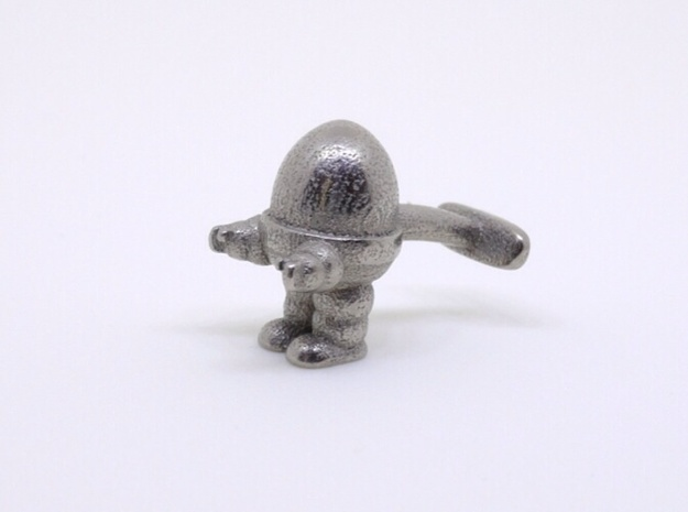 Eggbot Cufflink in Polished Nickel Steel
