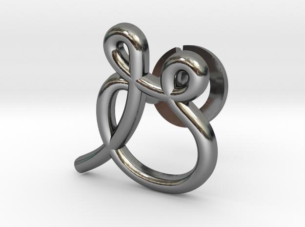 Cursive G Cufflink in Fine Detail Polished Silver
