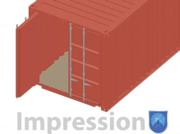 20 ft shippingcontainer 1:72 3d printed Impression of a shippingcontainer (detail)