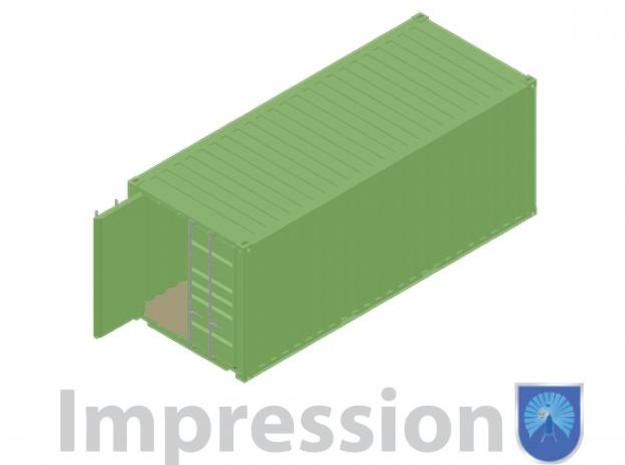 20ft shippingcontainer type B 3d printed Impression of a 20ft shipping container type B