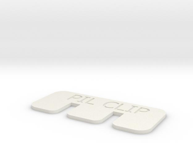 PIL Clip in White Natural Versatile Plastic