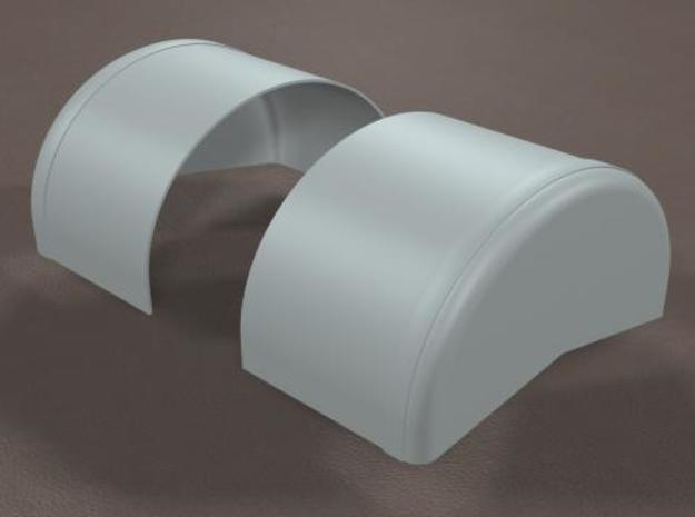 1/8 scale 40 inch Wheel Tubs in White Natural Versatile Plastic