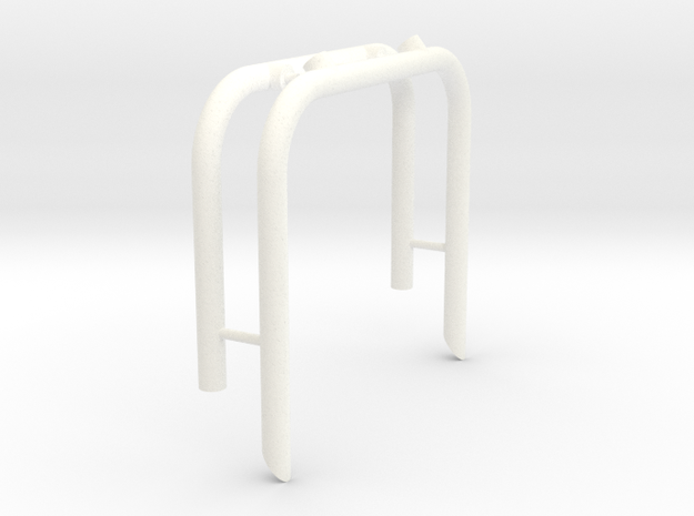 ASSY - USA-1 ROLL BAR in White Processed Versatile Plastic