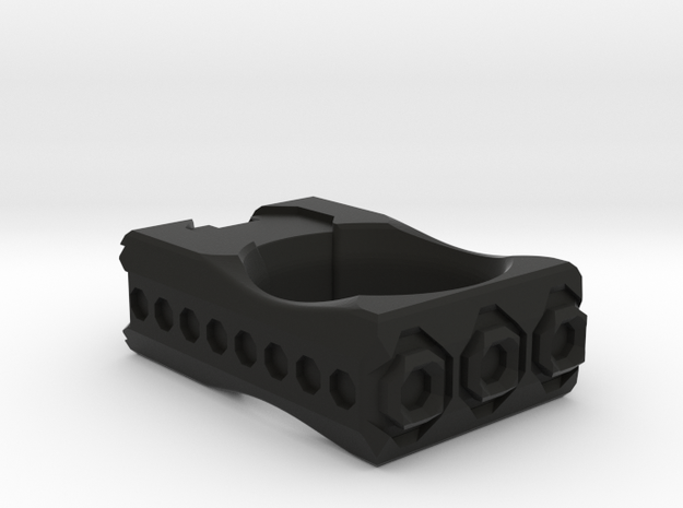 terraHex Knuckle Duster in Black Natural Versatile Plastic