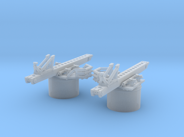 1/600 DKM Hipper Seaplane Catapult Set x2 in Smooth Fine Detail Plastic