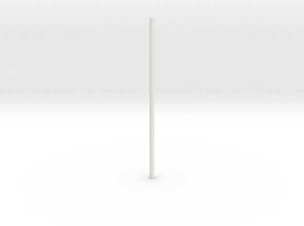 Glider_body - rod-1 in White Strong & Flexible