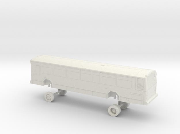 HO Scale Bus Gillig Phantom Sacramento RT 9000s in White Natural Versatile Plastic