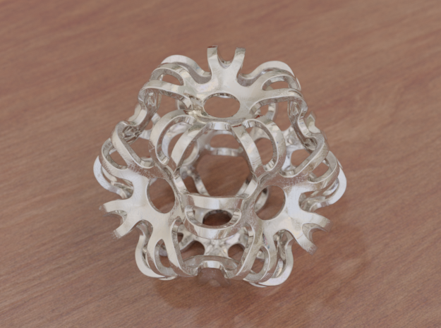 Outward Deformed Symmetrical Sphere in White Natural Versatile Plastic