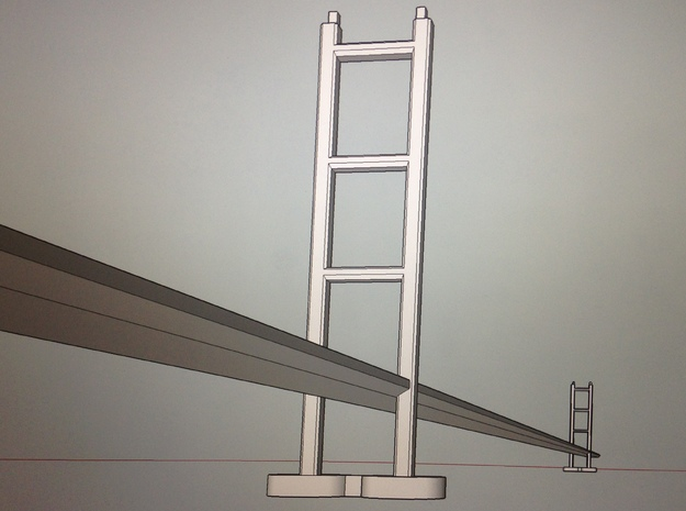 Suspension bridge/Humber bridge in White Natural Versatile Plastic